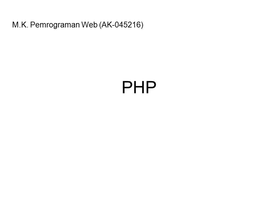 M.K. Pemrograman Web (AK-045216)