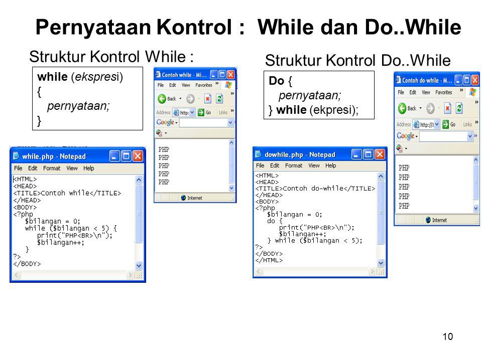 Pernyataan Kontrol : While dan Do..While