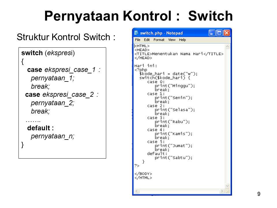 Pernyataan Kontrol : Switch