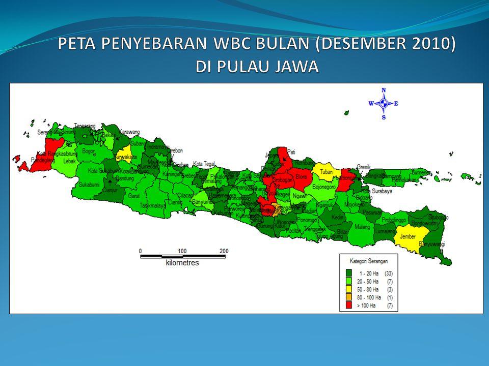 PETA PENYEBARAN WBC BULAN (DESEMBER 2010) DI PULAU JAWA