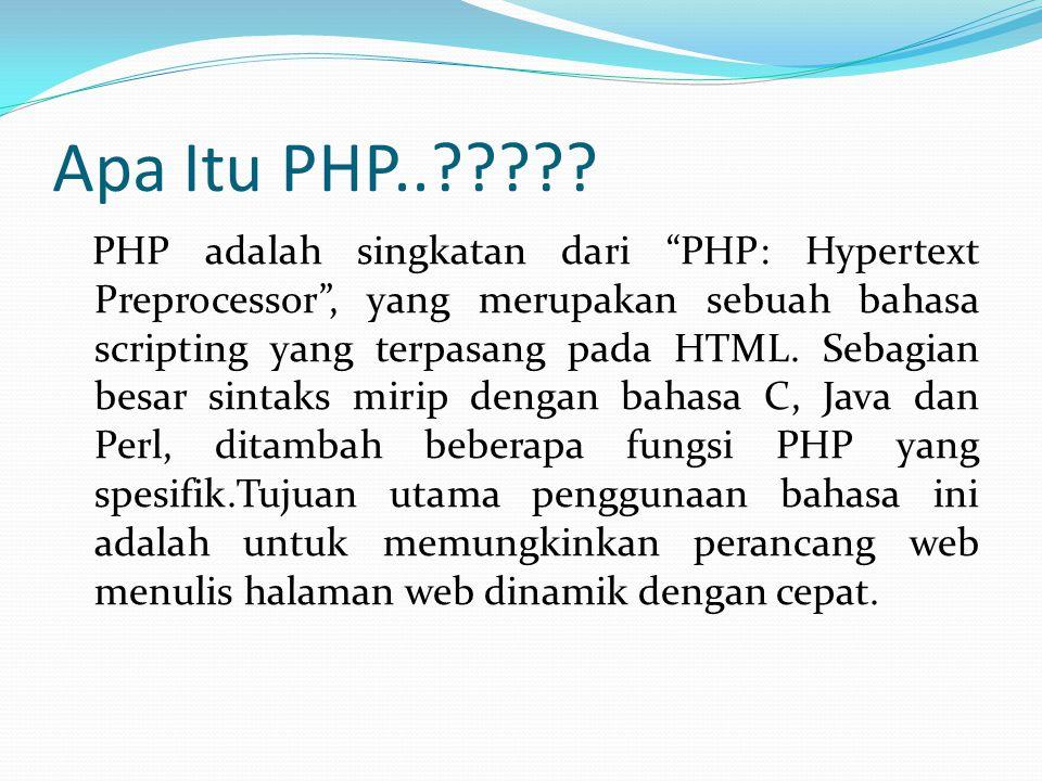 Apa Itu PHP..