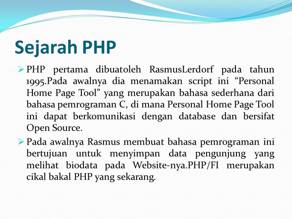 Sejarah PHP
