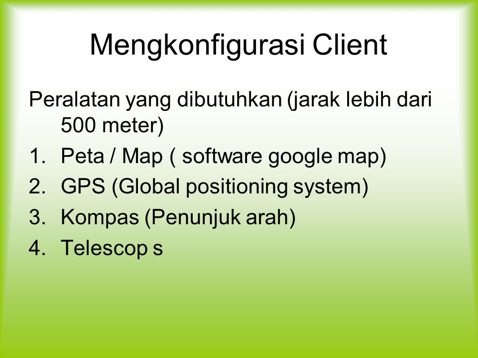 Mengkonfigurasi Client