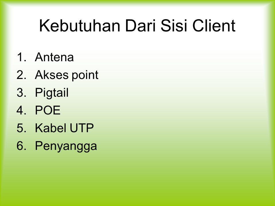 Kebutuhan Dari Sisi Client