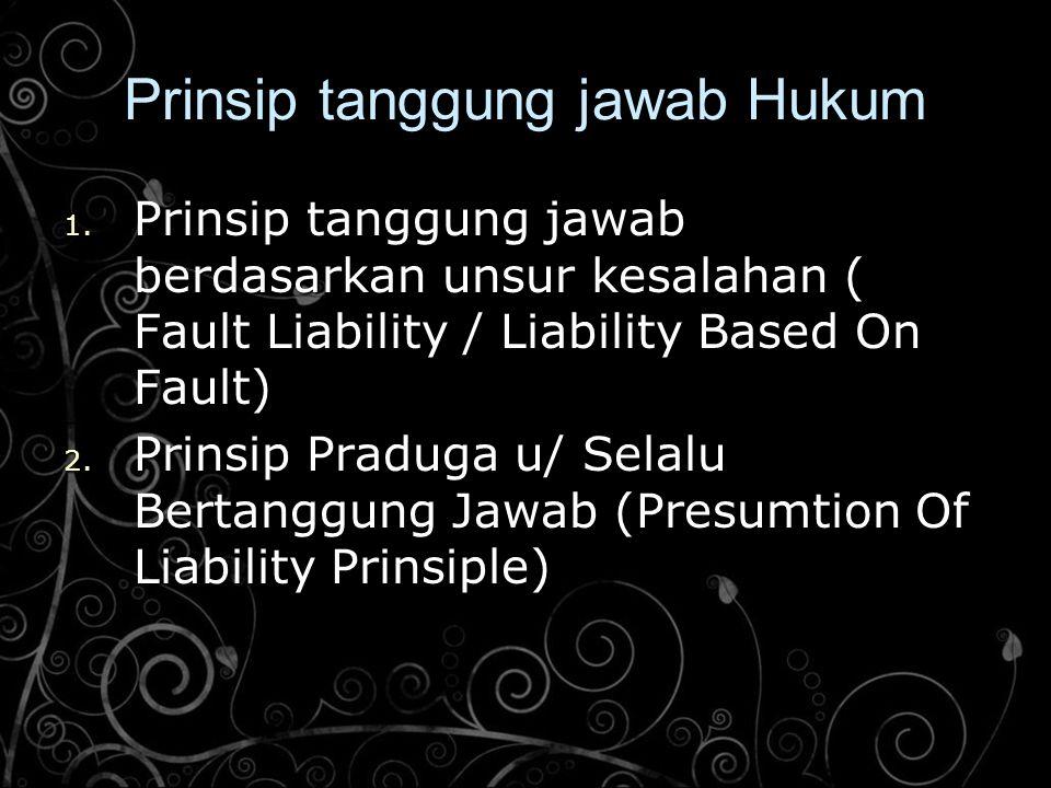 Prinsip tanggung jawab Hukum