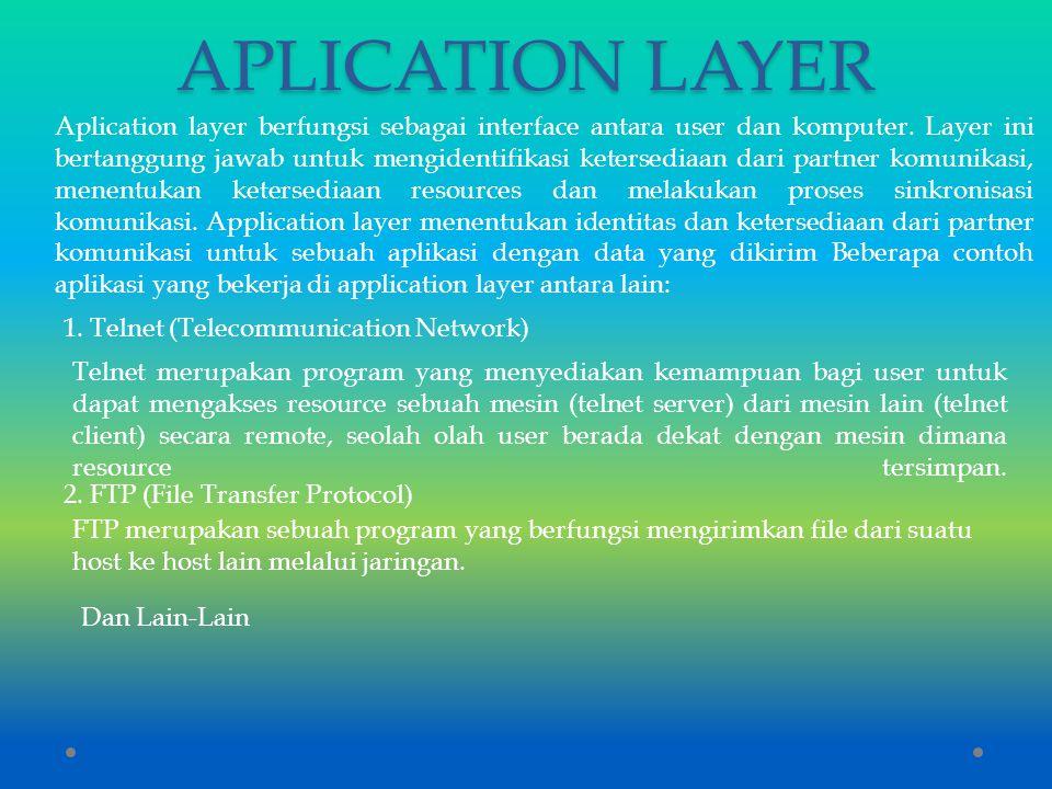 APLICATION LAYER