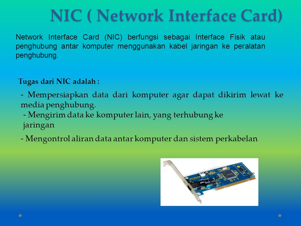 NIC ( Network Interface Card)