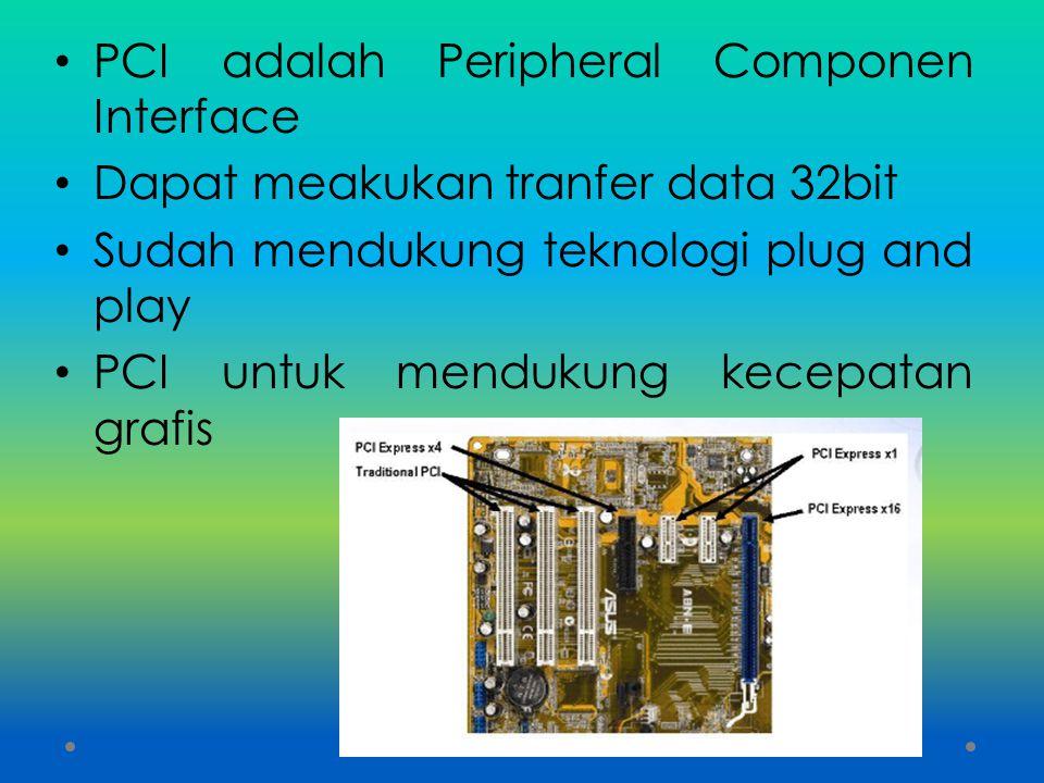 PCI adalah Peripheral Componen Interface