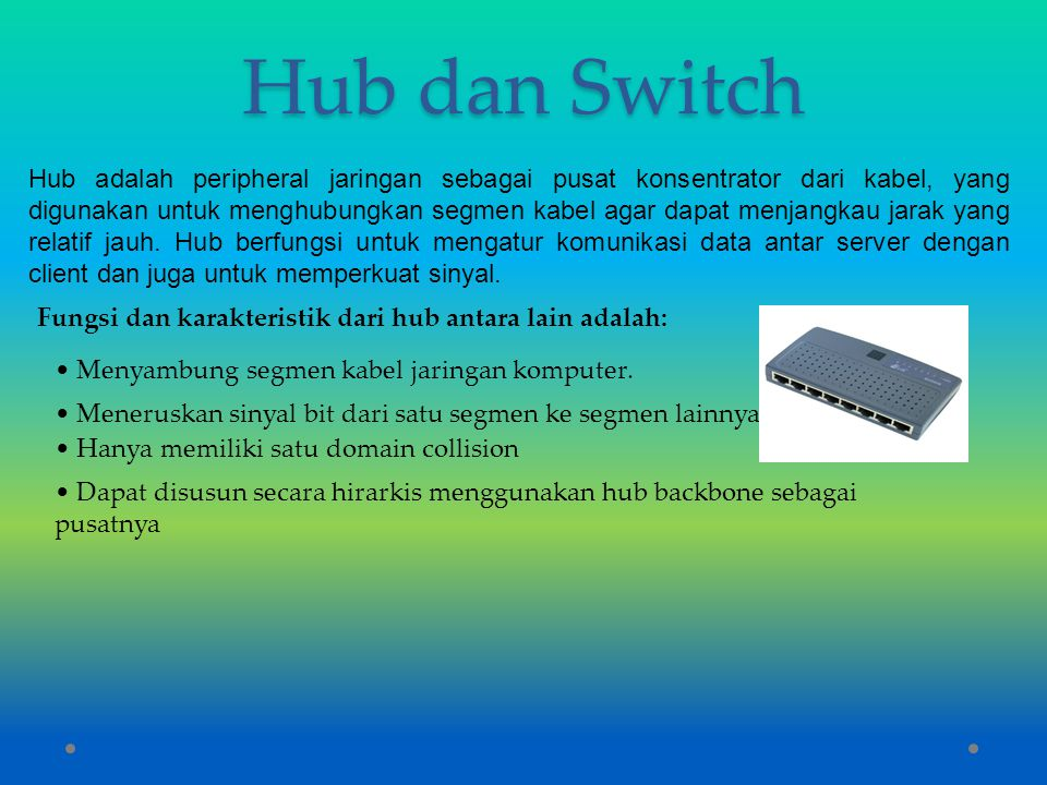 Hub dan Switch