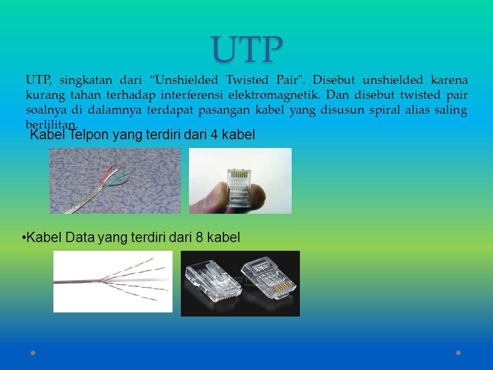 UTP Kabel Telpon yang terdiri dari 4 kabel