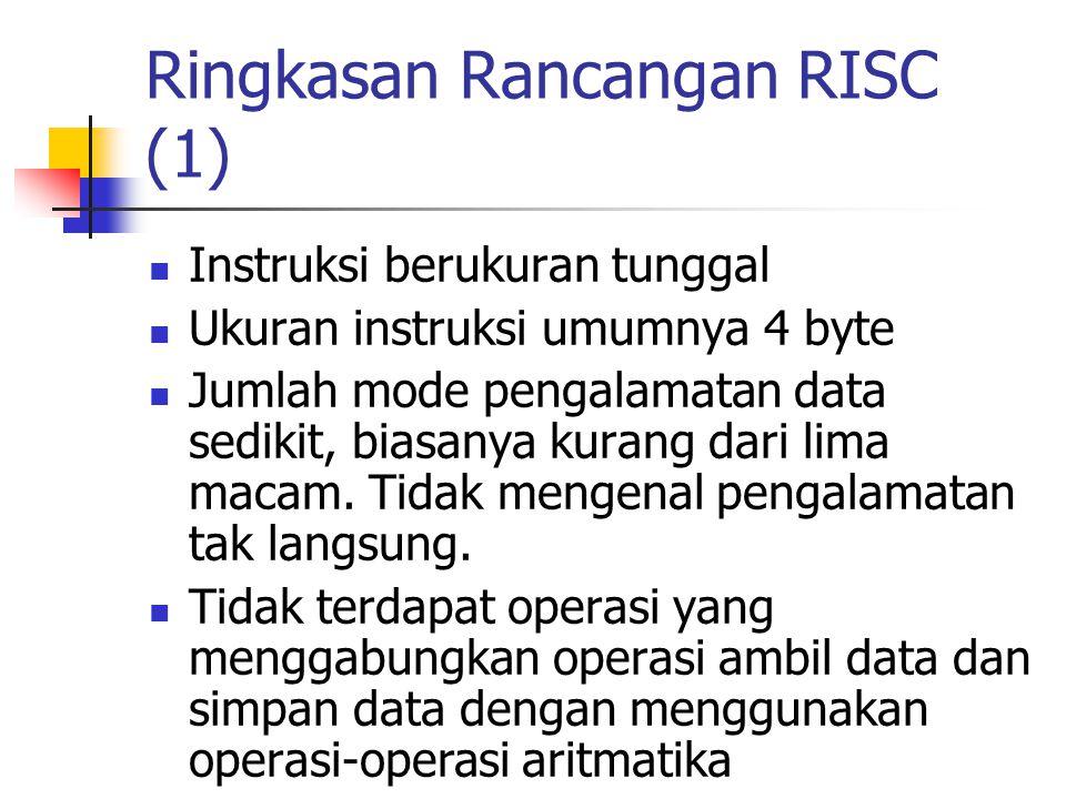 Ringkasan Rancangan RISC (1)