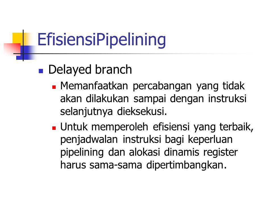 EfisiensiPipelining Delayed branch