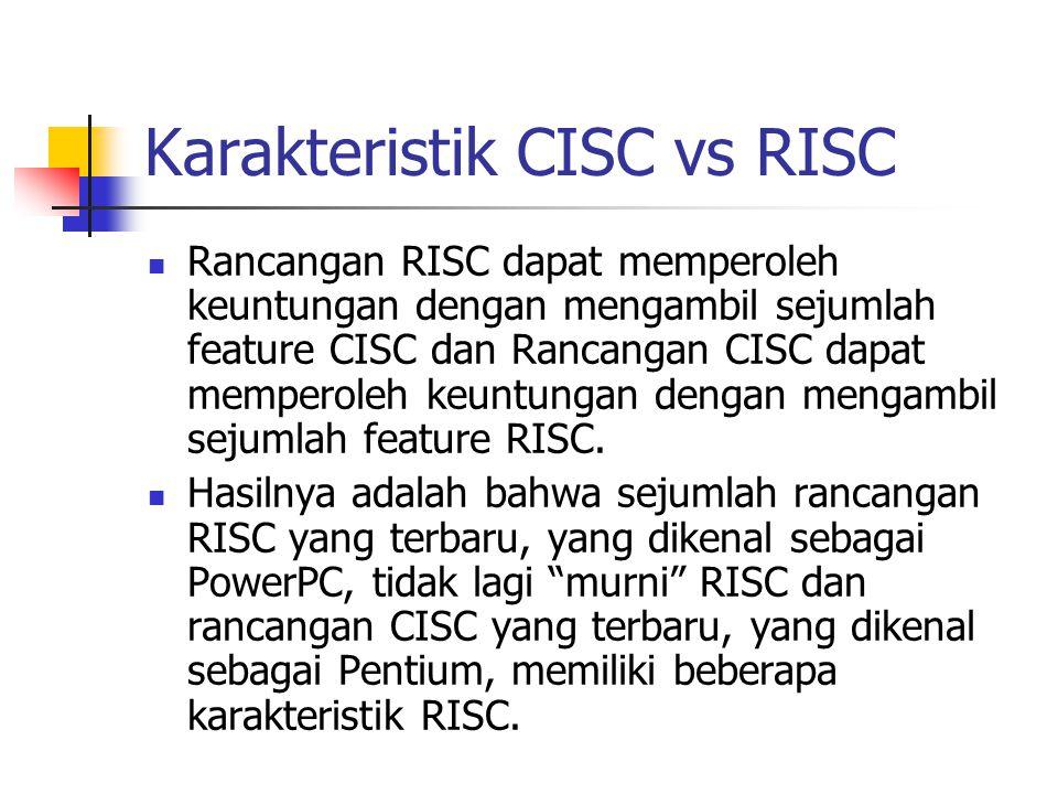 Karakteristik CISC vs RISC