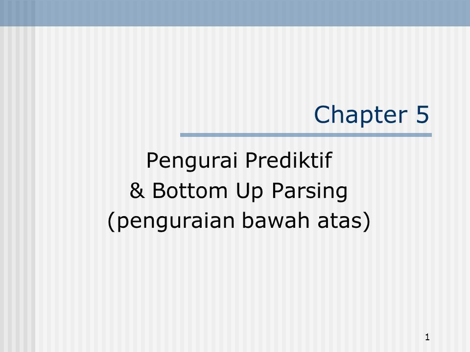 Pengurai Prediktif & Bottom Up Parsing (penguraian bawah atas)