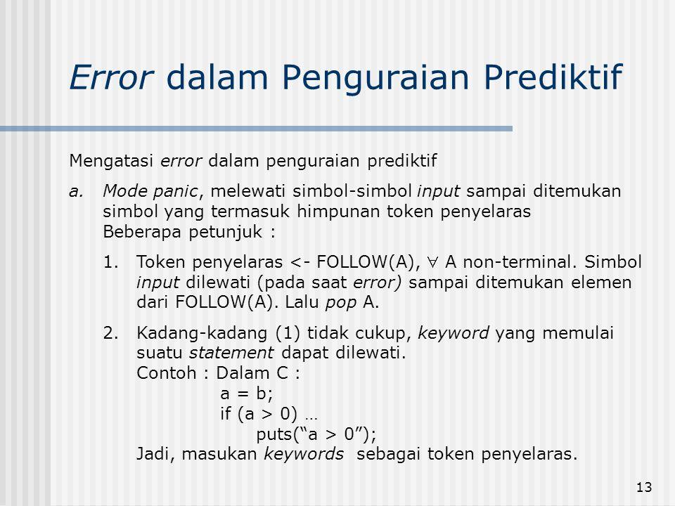 Error dalam Penguraian Prediktif