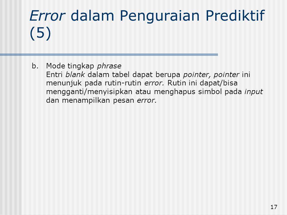 Error dalam Penguraian Prediktif (5)