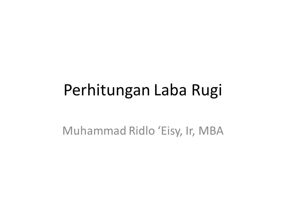 Muhammad Ridlo 'Eisy, Ir, MBA