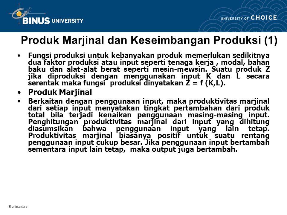Produk Marjinal dan Keseimbangan Produksi (1)