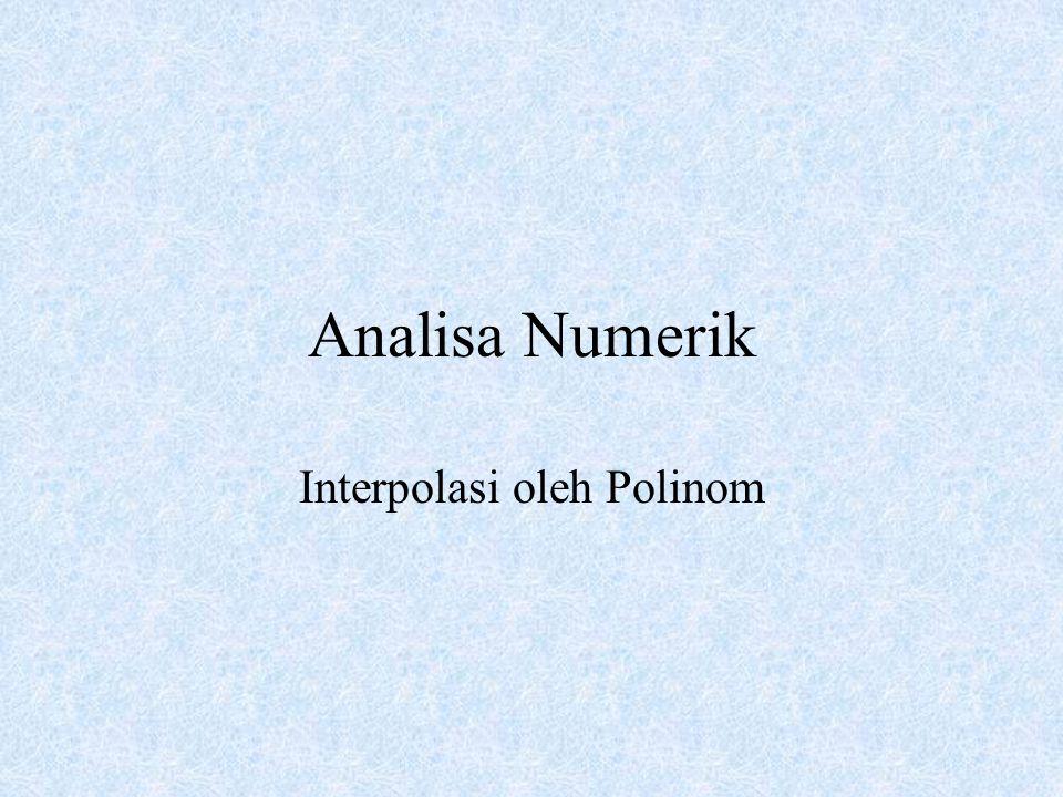 Interpolasi oleh Polinom