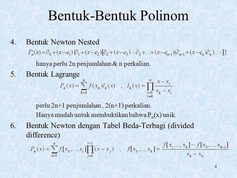 Bentuk-Bentuk Polinom