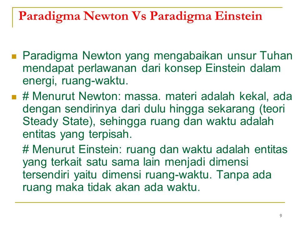 Paradigma Newton Vs Paradigma Einstein