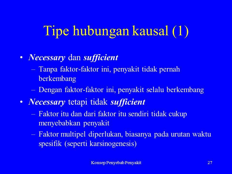 Tipe hubungan kausal (1)