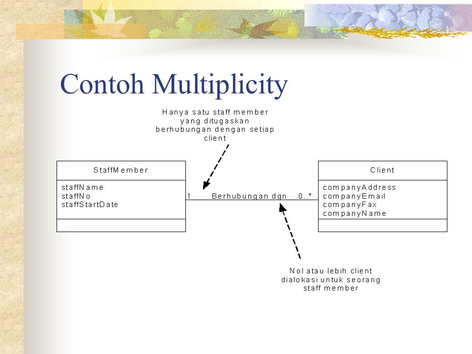 Contoh Multiplicity