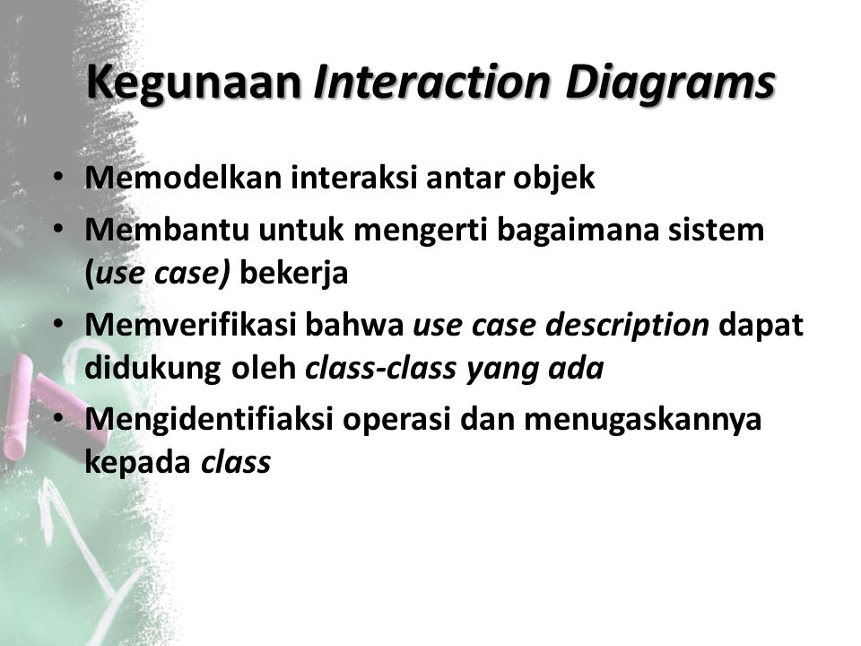 Kegunaan Interaction Diagrams