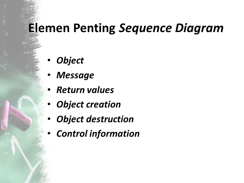 Elemen Penting Sequence Diagram