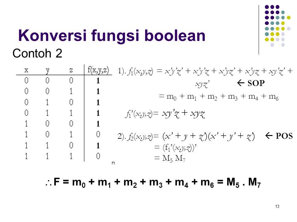 Konversi fungsi boolean