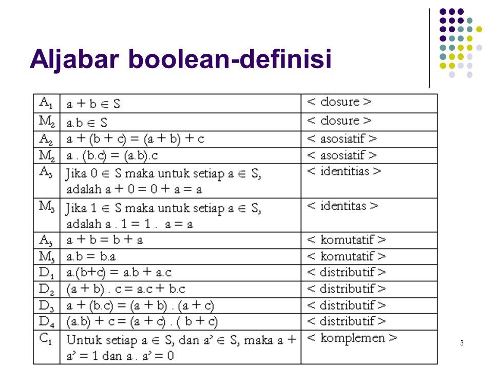 Aljabar boolean-definisi
