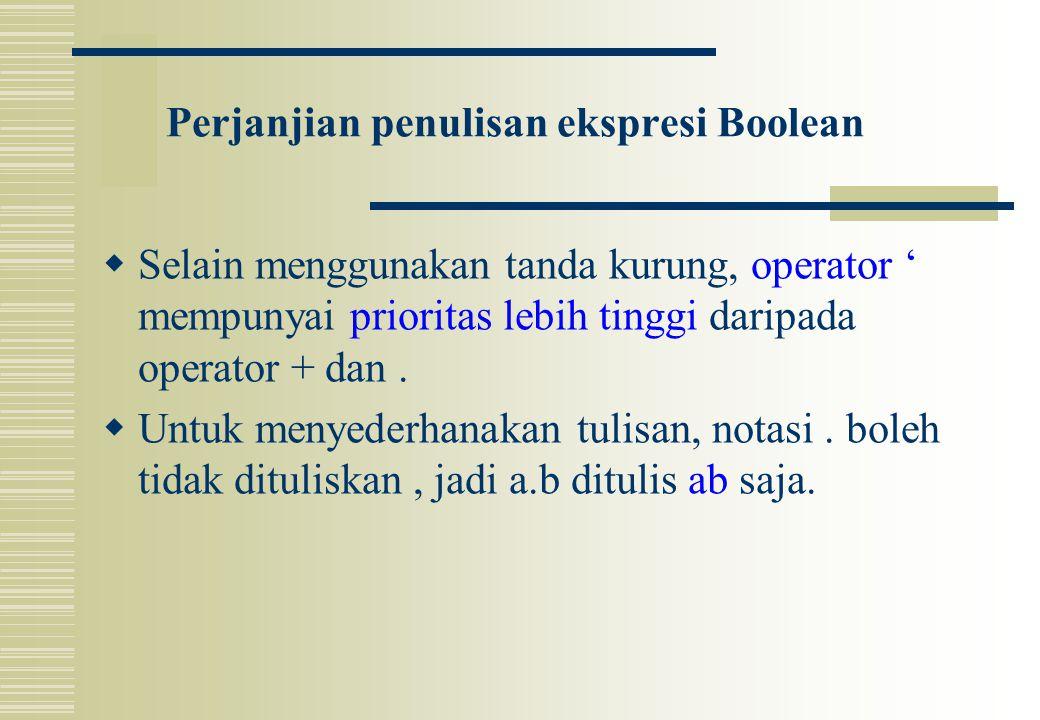 Perjanjian penulisan ekspresi Boolean