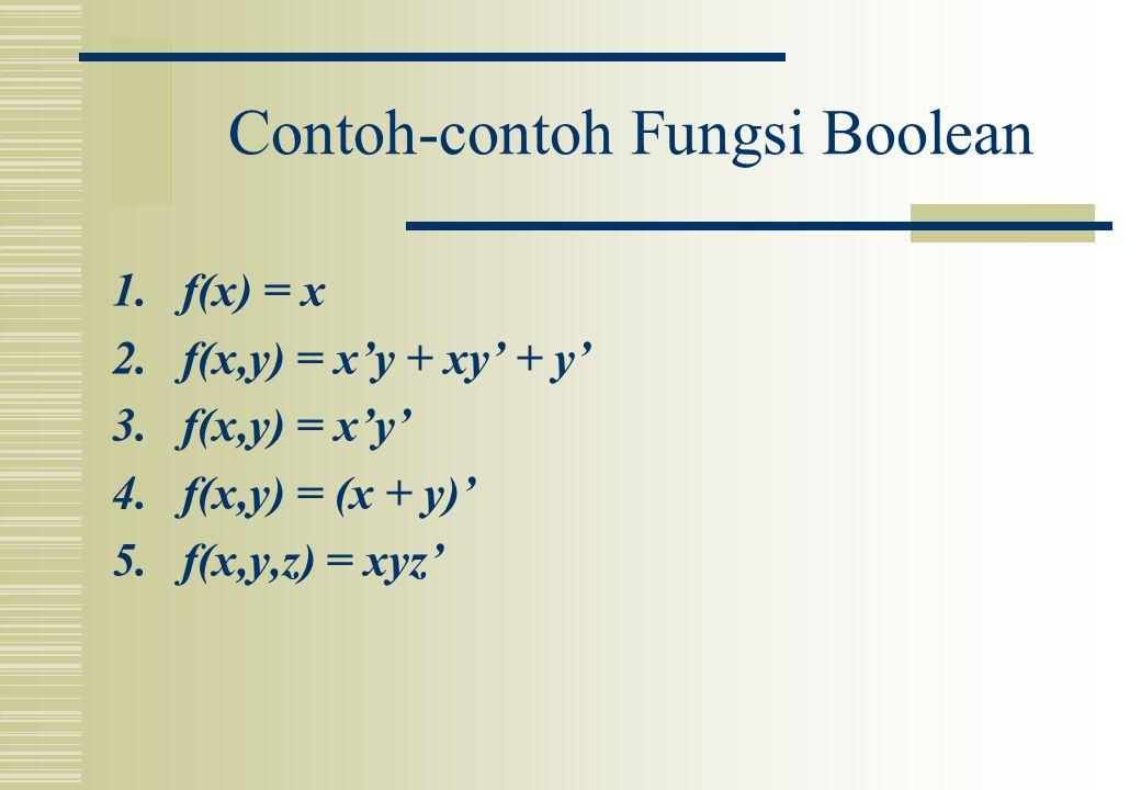 Contoh-contoh Fungsi Boolean