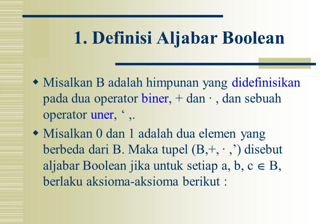 1. Definisi Aljabar Boolean