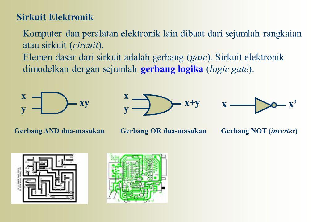 Komputer dan peralatan elektronik lain dibuat dari sejumlah rangkaian