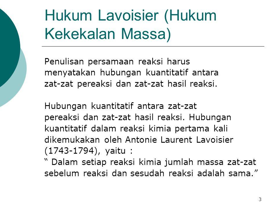 Hukum Lavoisier (Hukum Kekekalan Massa)