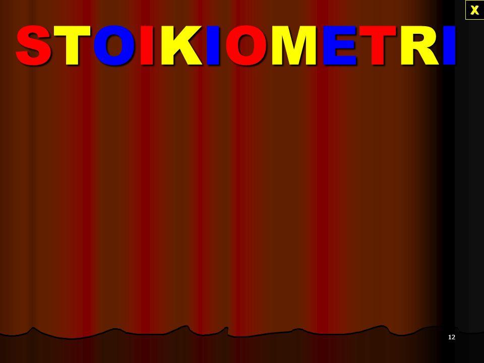 X STOIKIOMETRI