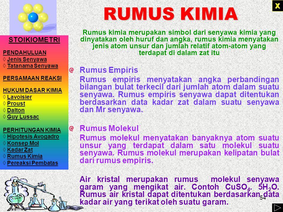 RUMUS KIMIA Rumus Empiris