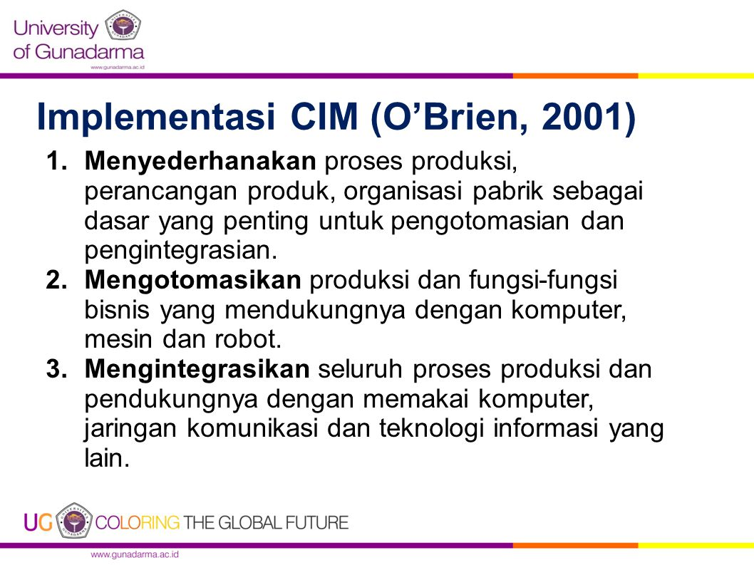 Implementasi CIM (O'Brien, 2001)