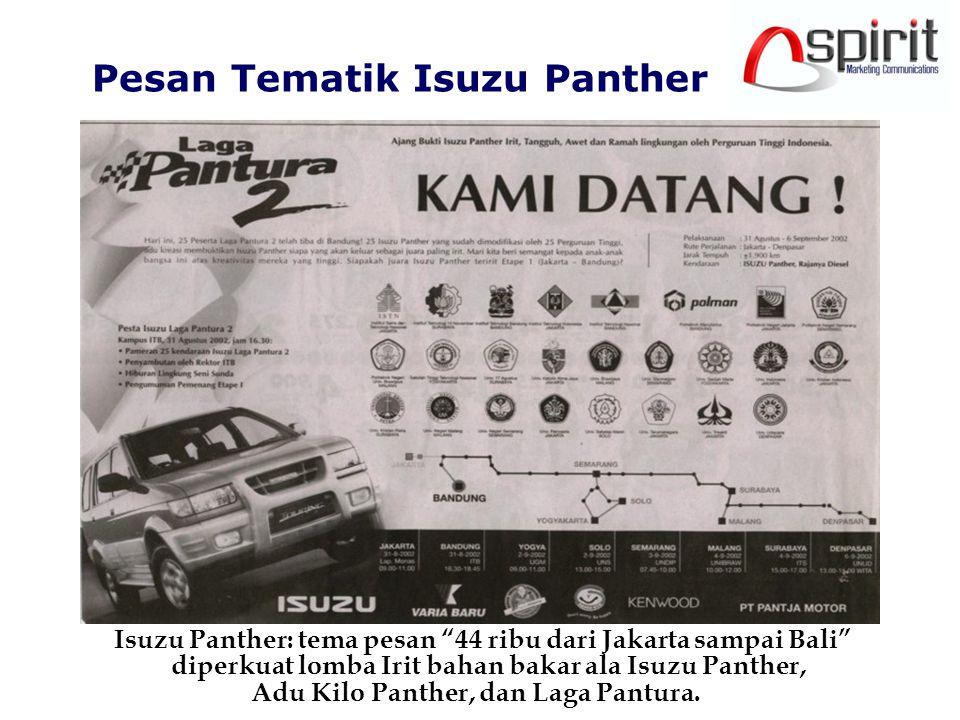 Pesan Tematik Isuzu Panther Adu Kilo Panther, dan Laga Pantura.