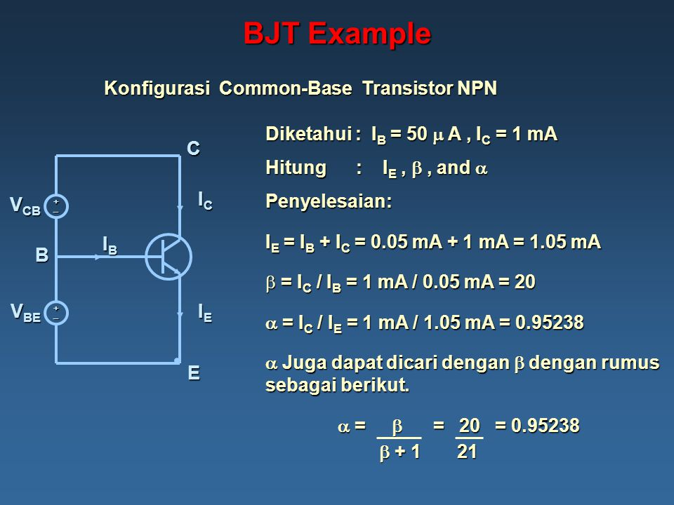 Konfigurasi Common-Base Transistor NPN