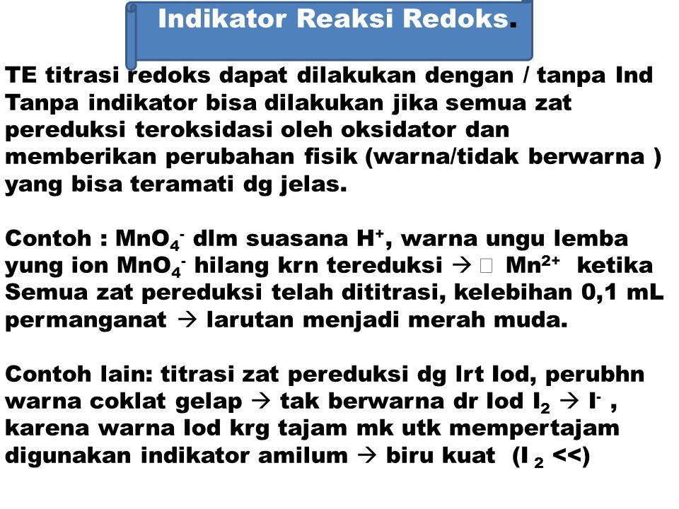 Indikator Reaksi Redoks.