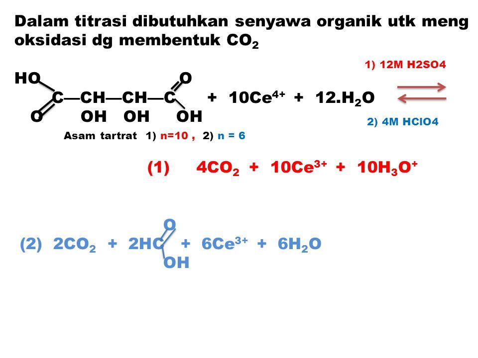 Dalam titrasi dibutuhkan senyawa organik utk meng