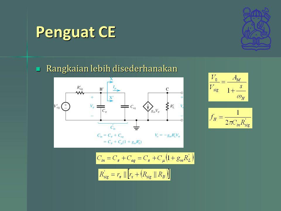 Penguat CE Rangkaian lebih disederhanakan
