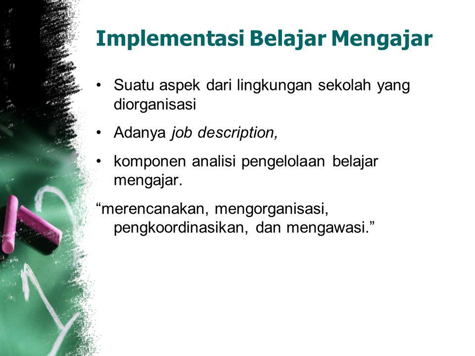 Implementasi Belajar Mengajar