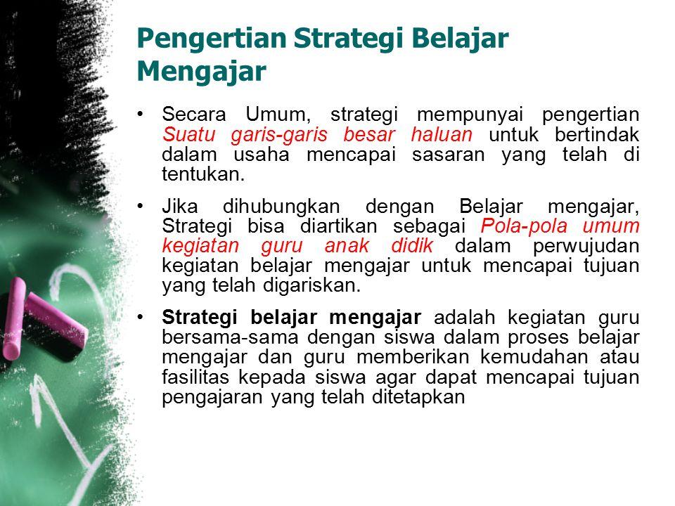 Pengertian Strategi Belajar Mengajar