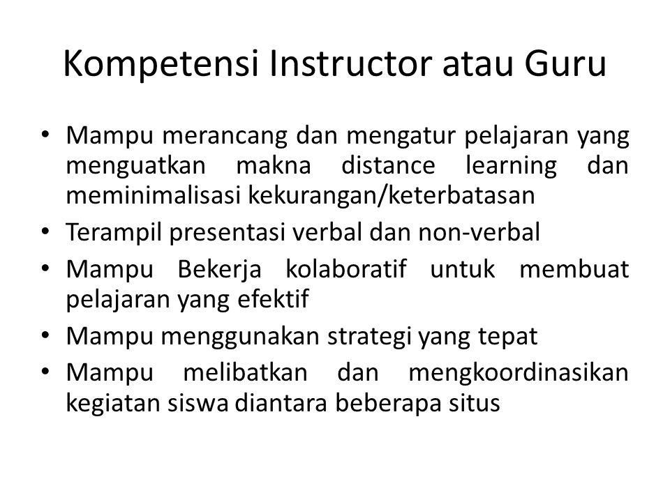 Kompetensi Instructor atau Guru