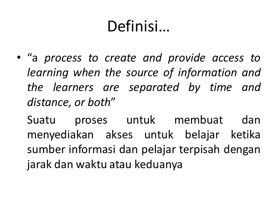 Definisi…