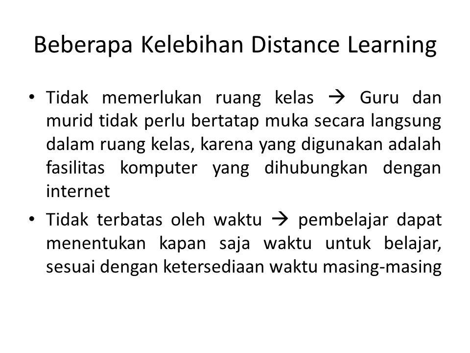 Beberapa Kelebihan Distance Learning