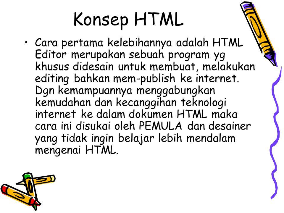 Konsep HTML